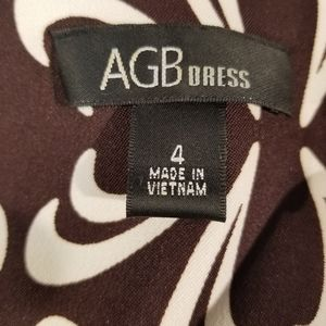 AGB Dresses - Sleeveless black and white dress